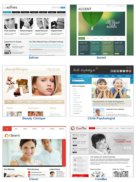 Template Design Themes