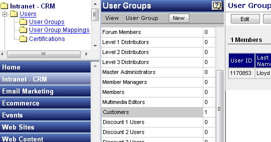 Members and User Groups